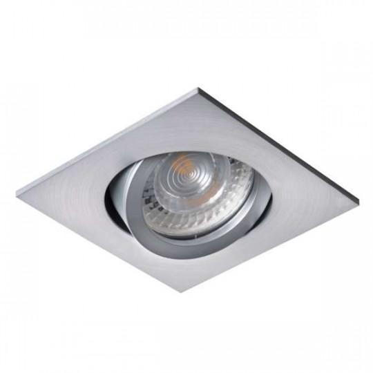 Support encastrable carré orientable gris clair