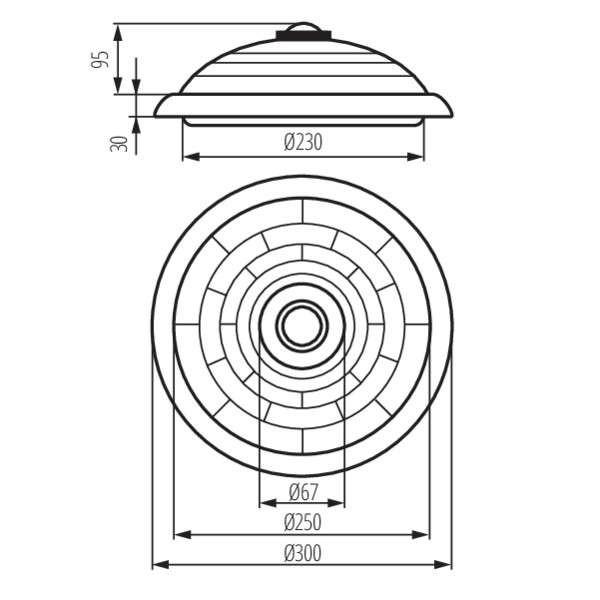 Plafonnier - Détecteur de mouvement intégré (culot E27)