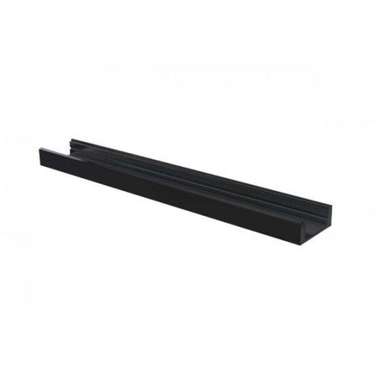 Profilé aluminium noir plat 7mm SL7 - Longueur 1m