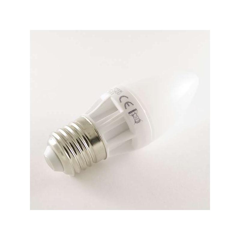 Ampoule LED E27 Bougie C30 5W 400lm 270°