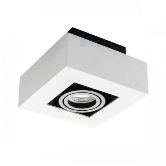 Support de spot saillie blanc noir orientable
