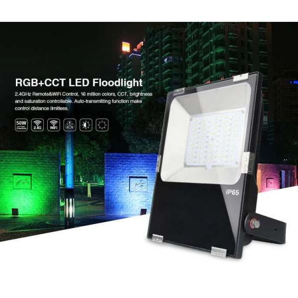Projecteur LED RGB+CCT 50W radiofréquence