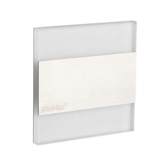 Mini Spot LED 1,3W pour Escalier Inox TERRA AC 220-240V Blanc Jour 6500K