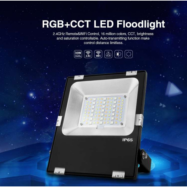 Projecteur LED RGB+CCT 30W radiofréquence