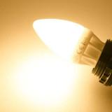 Ampoule LED E27 Bougie C30 5W 400lm 270° Blanc Chaud 2700K