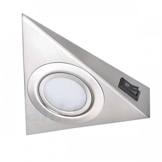Luminaire pour Meuble Chrome Mat avec Interrupteur