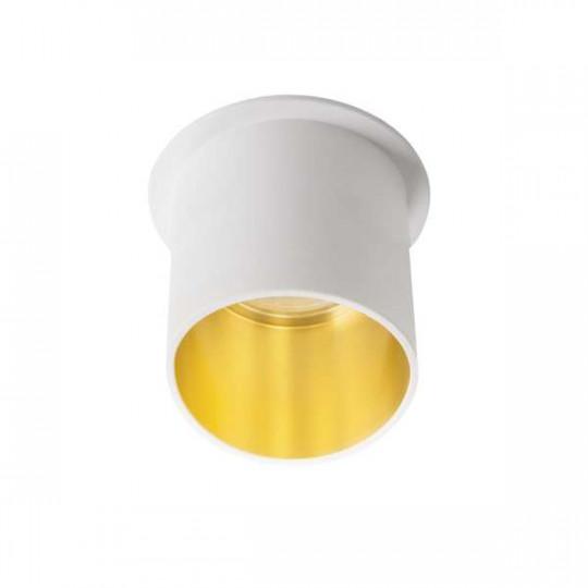 Support de Spot Encastrable Rond SPAG L Blanc-Or