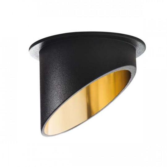 Support de Spot Encastrable Rond SPAG C Noir-Or