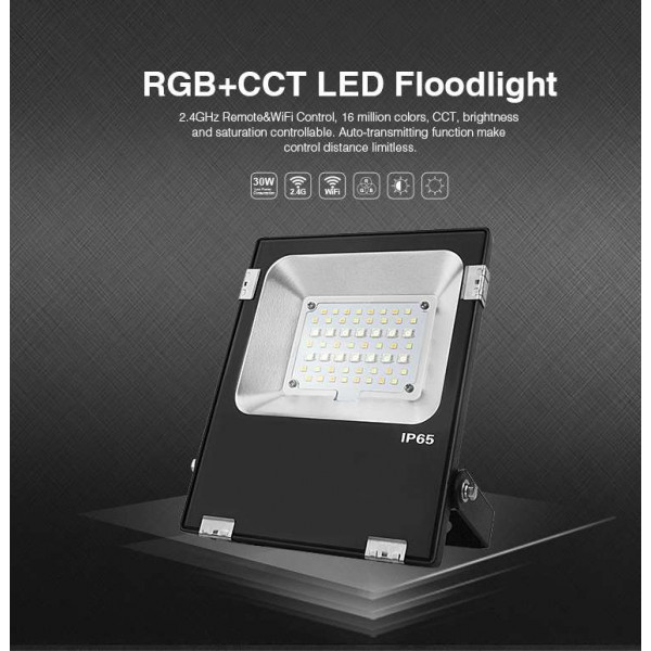 Projecteur LED RGB+CCT 20W radiofréquence