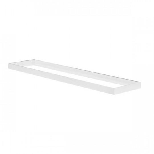 Cadre de Fixation en Saillie Rectangulaire Blanc pour Dalles LED 1200x300mm