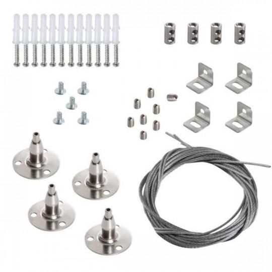 Kit de Suspension pour Dalle LED BRAVO 30x60cm - 60x60cm