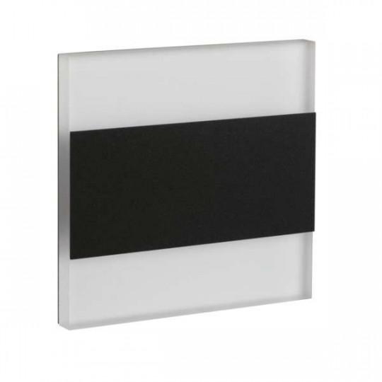 Mini Spot LED 1,3W pour Escalier Noir TERRA AC 220-240V Blanc Chaud 3000K