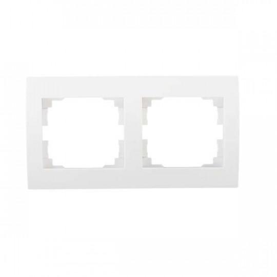 Cadre Double Horizontal LOGI Blanc