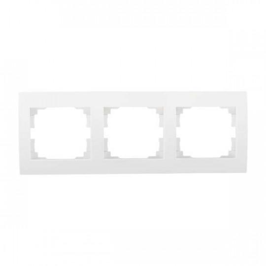 Cadre Triple Horizontal LOGI Blanc