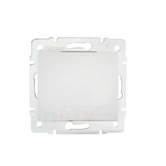 Interrupteur Encastrable Simple DOMO Blanc