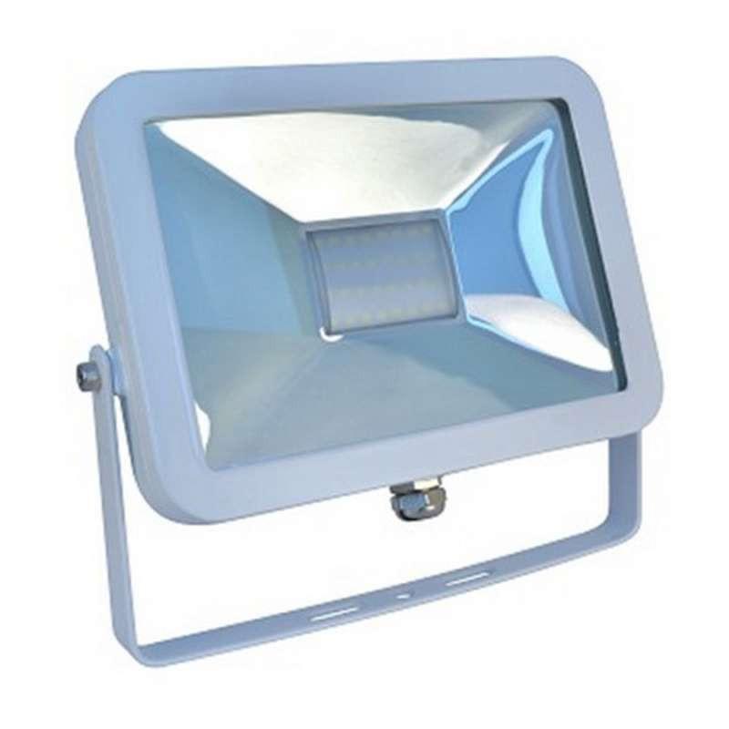 Projecteur LED 30W Fin 6000K (120W) Contour Blanc