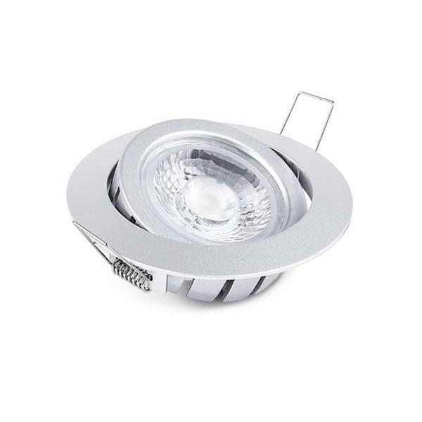 Spot encastrable 10W LED CREE équivalent 80W Blanc Neutre (4100K) Gris
