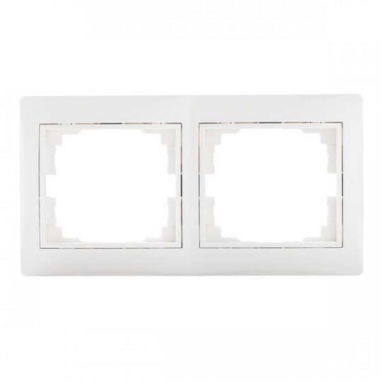 Cadre Double Horizontale DOMO Blanc