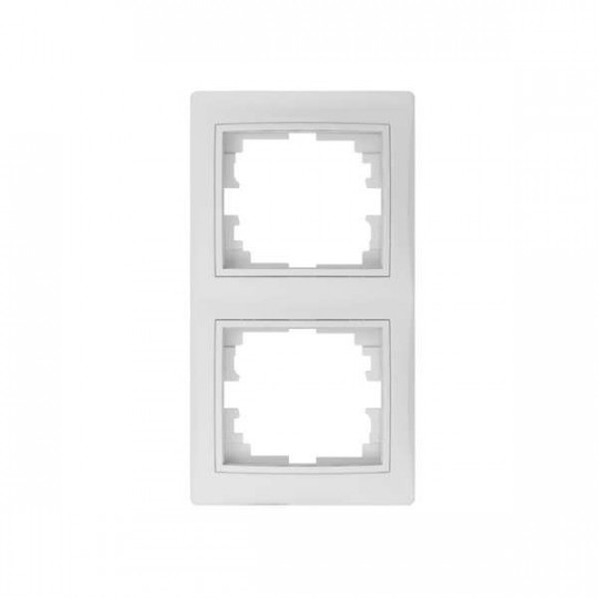Cadre Double Verticale DOMO Blanc