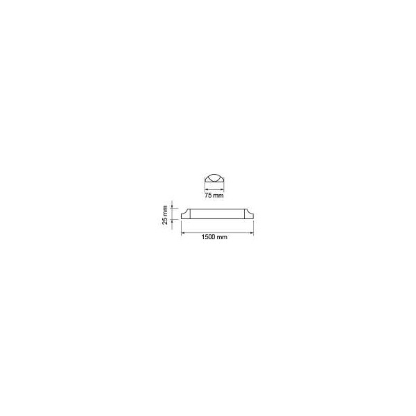 Réglette LED de bureau VTAC 150cm, 50W 4000lm