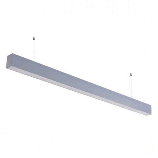 Réglette LED Fine Argentée Suspendue 40W Linkable 1200mm Blanc Naturel 4000K