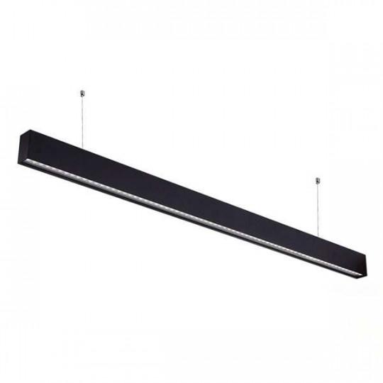 Réglette LED Fine Noire Suspendue 50W UGR19 Linkable 1200mm Blanc Naturel 4000K