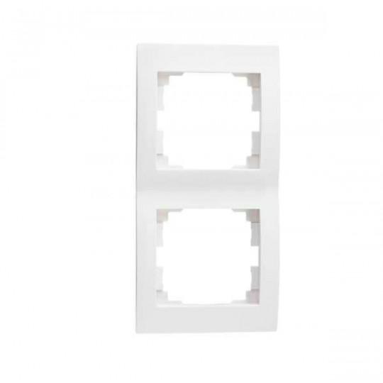 Cadre Double Vertical LOGI Blanc