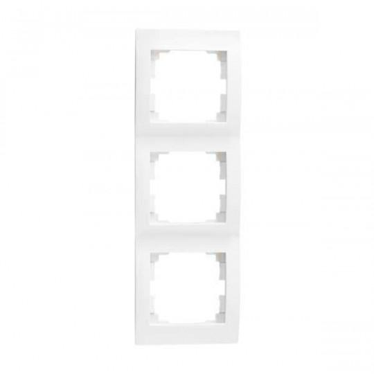 Cadre Triple Vertical LOGI Blanc