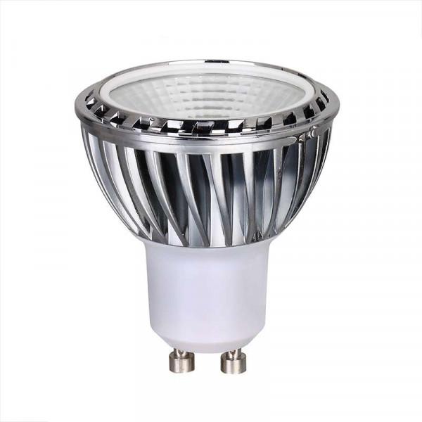 Kit Spot LED GU10 COB 5W dimmable équivalent 5W Blanc neutre 4100K fixe aluminium