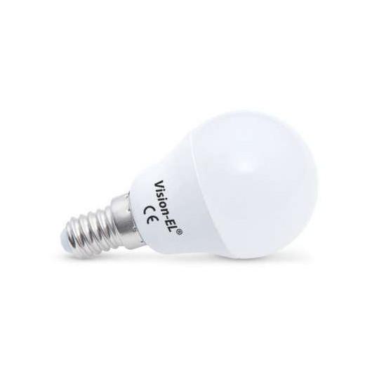 Lampe LED E14 4W dépoli éclairage 30W forme globe Blanc du Jour 6000K