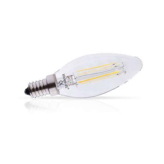 Ampoule LED E14 Filament 4W flamme équivalent 35W Blanc Chaud 2700K