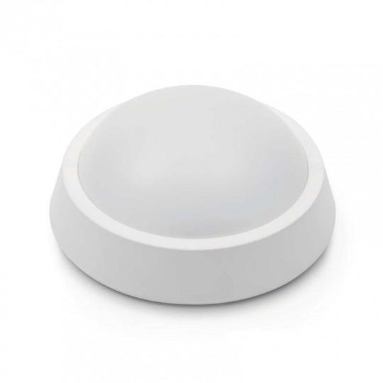 Applique LED Plafond 13W Rond à Détecteur Micro-onde IP65 - Blanc Chaud 2700K