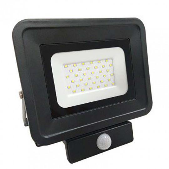 Projecteur LED 50W à détecteur fin équivalent 250W (Optonica) Noir