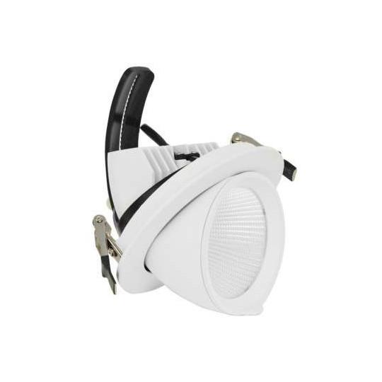 Spot LED Escargot Blanc 20W Orientable Equivalent 90W Blanc Chaud 3000K