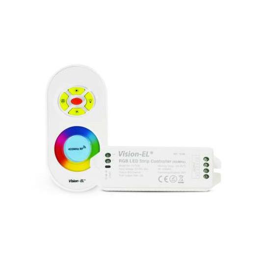 Contrôleur LED RGB DC 12/24V IP20 et Télécommande RF