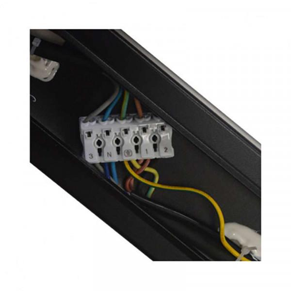 Réglette LED Noire 100W Linkable 3m Blanc Naturel 5000K