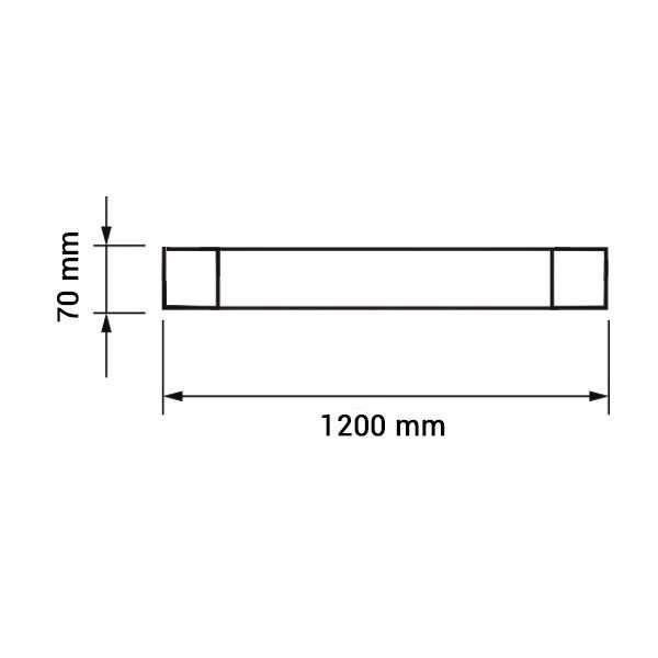 Réglette LED de bureau 120cm, 40W 3320lm (250W)
