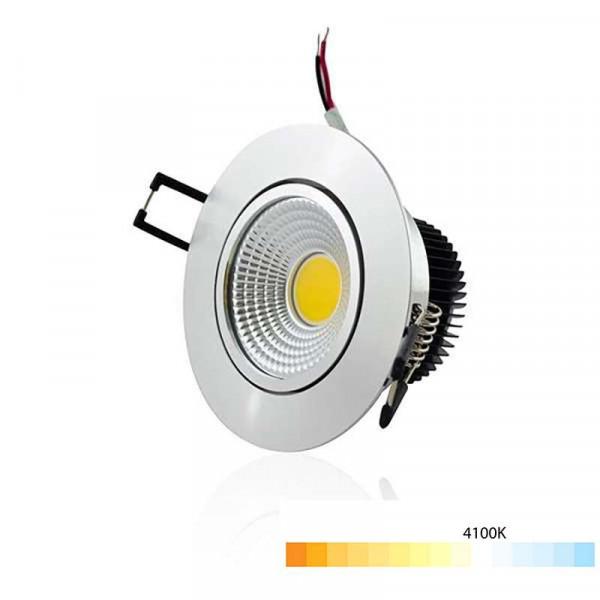 Plafonnier Aluminium Encastrable LED 5W COB - Eclairage 40W Blanc Neutre 4100K