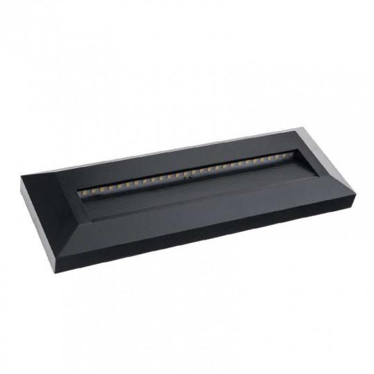Spot LED 3W pour Escalier Rectangulaire Noir AC 220-240V Blanc Chaud 3000K