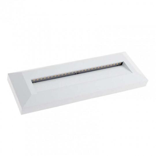 Spot LED 3W pour Escalier Rectangulaire Blanc AC 220-240V Blanc Chaud 3000K