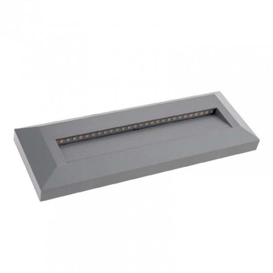 Spot LED 3W pour Escalier Rectangulaire Gris AC 220-240V Blanc Neutre 4200K