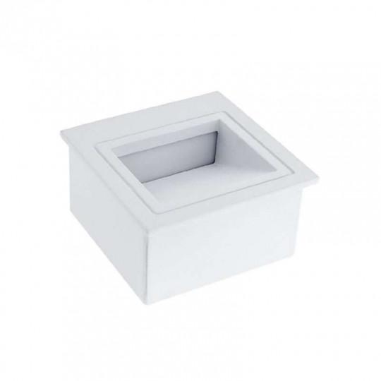 Spot LED 3W Encastrable pour Escalier Carré Blanc AC 220-240V Blanc Neutre 4200K