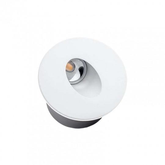Spot LED 3W Encastrable pour Escalier Rond Blanc AC 220-240V Blanc Chaud 3000K