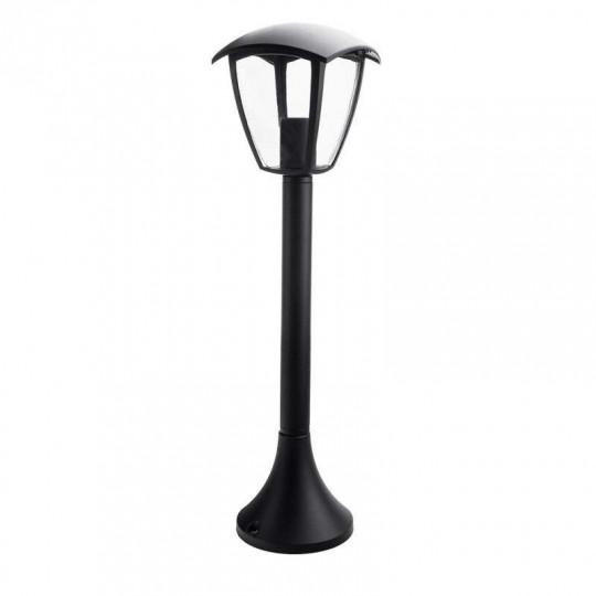 Lanterne Noire sur Pied Douille E27 IP44 Hauteur 60cm