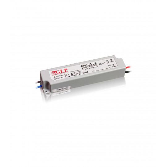 Alimentation LED DC 24V 20W étanche IP67