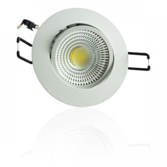Plafonnier Dimmable encastrable blanc LED 5W COB - Blanc Chaud 3000K éclairage 40W