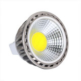 Kit Spot LED GU10 COB dimmable 5W équivalent 50W Blanc chaud 2700K fixe blanc
