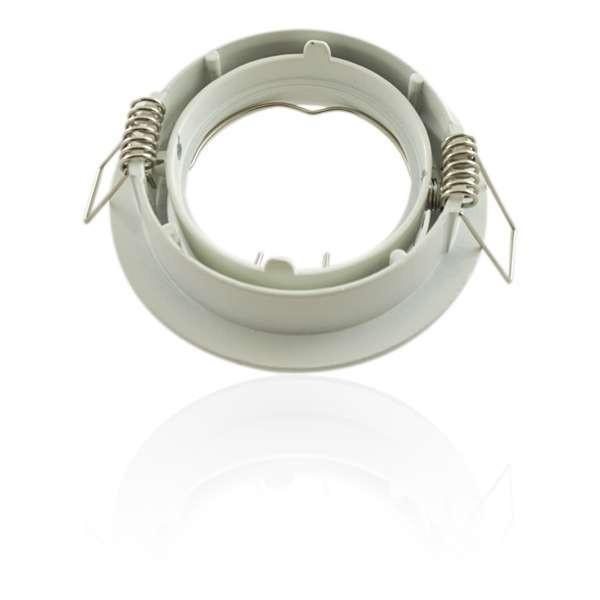 Kit Spot LED GU10 COB dimmable 5W équivalent 50W Blanc chaud 2700K fixe blanc