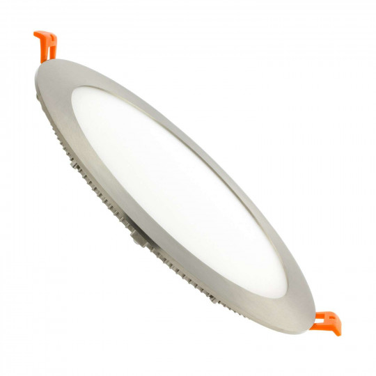 Spot LED encastrable extra plat 18W Satin Nickel - Blanc du Jour 6000K