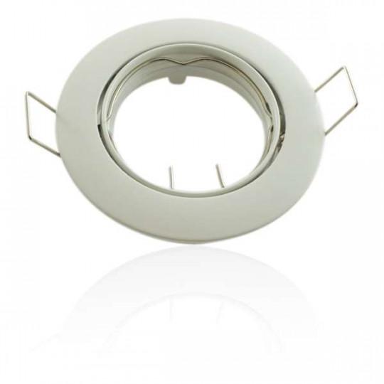 Kit Spot LED GU10 COB dimmable 5W équivalent 50W Blanc neutre 4100K fixe blanc